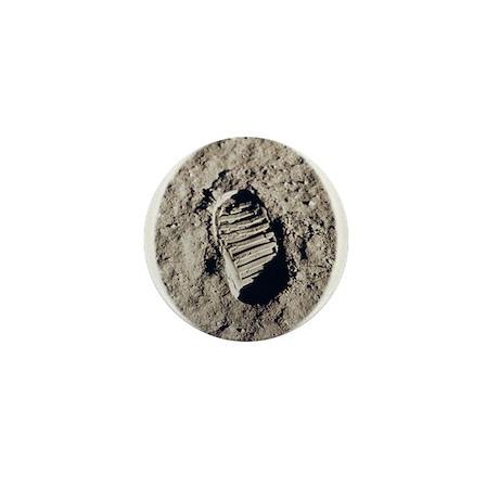 Moon Footprint Mini Button