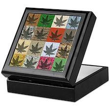 Pot Leaf Patchwork Keepsake Box