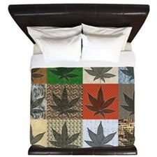 Pot Leaf Patchwork King Duvet
