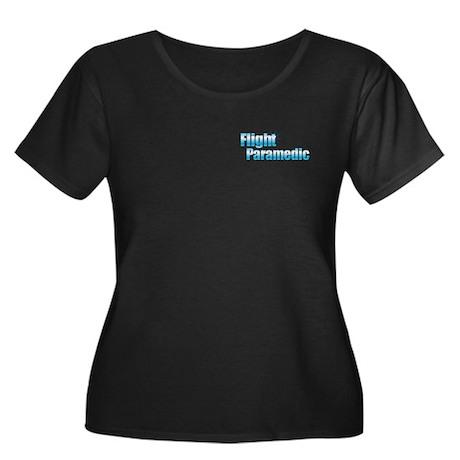 Flight Paramedic Women's Plus Size Scoop Neck Dark