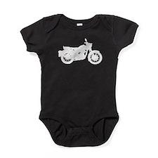 Vintage Motorcycle Silhouette Baby Bodysuit