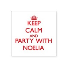 Keep Calm and Party with Noelia Sticker