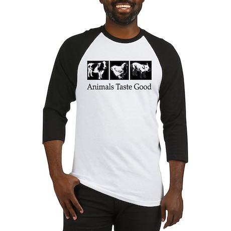 Animals Taste Good - T Shirt Baseball Jersey
