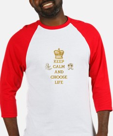 KEEP CALM AND CHOOSE LIFE Baseball Jersey