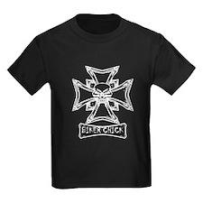 Biker Chick Skull And Cross T-Shirt