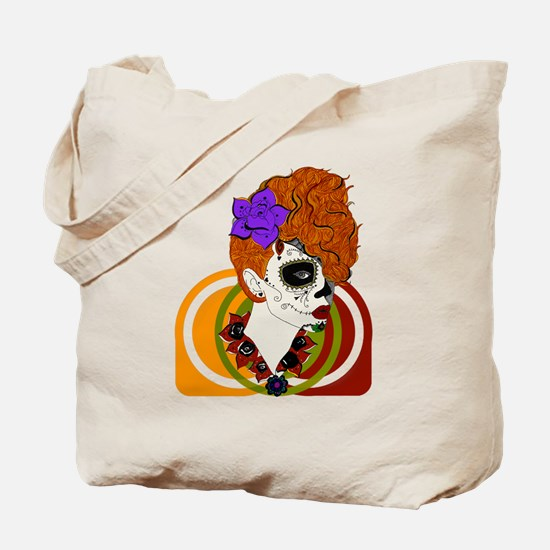 Sugar Skull Beauty w/background Tote Bag