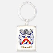 McDermott Coat of Arms - Family  Portrait Keychain