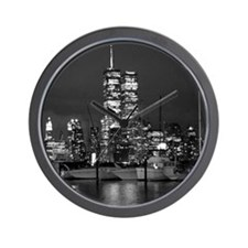 Twin Towers - Wall Clock (original photograph)