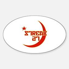 Streak27 Russian Style Oval Decal