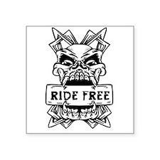 Ride Free Skull Sticker