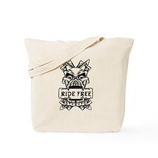 Ride Free Skull Tote Bag