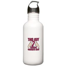 Head Neck Cancer Kick Water Bottle