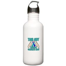 Thyroid Cancer Kick Cancer Water Bottle