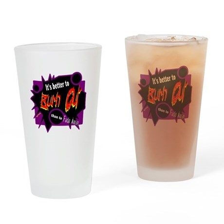 Burn/Fade-Neil Young Drinking Glass
