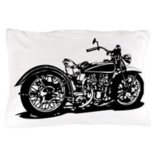 Vintage Motorcycle Pillow Case