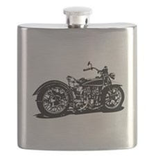 Vintage Motorcycle Flask