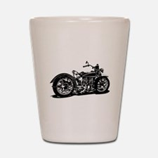 Vintage Motorcycle Shot Glass