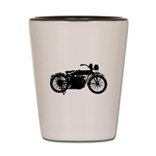 Vintage Motorcycle Silhouette Shot Glass