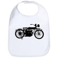 Vintage Motorcycle Silhouette Bib