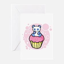 Pink Pandacake Greeting Cards (Pk of 10)
