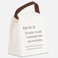 RULE NO. 18 Canvas Lunch Bag