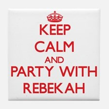 Keep Calm and Party with Rebekah Tile Coaster