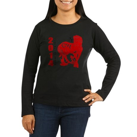 2014 Year of The Horse Paper Cut Long Sleeve T-Shi