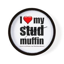 """Love My Stud Muffin"" Wall Clock"