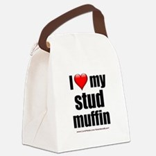 """""""Love My Stud Muffin"""" Canvas Lunch Bag"""