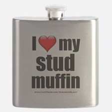 """Love My Stud Muffin"" Flask"