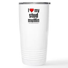 """Love My Stud Muffin"" Travel Mug"