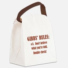RULE NO. 3 Canvas Lunch Bag