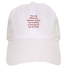Genius vs. stupidity Baseball Cap