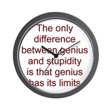 Genius vs. stupidity Wall Clock