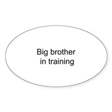 Big brother in training Oval Decal