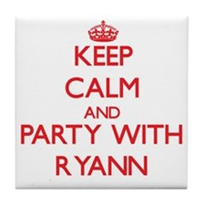 Keep Calm and Party with Ryann Tile Coaster
