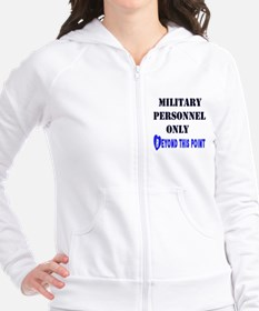 Military Personnel Only Fitted Hoodie