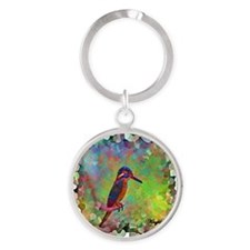 Kingfisher Round Keychain