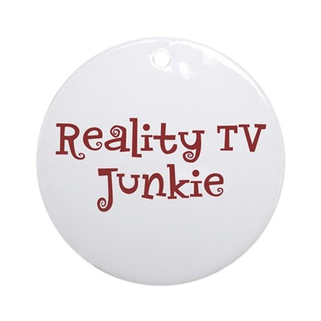 """Reality TV Junkie"" Ornament (Round)"