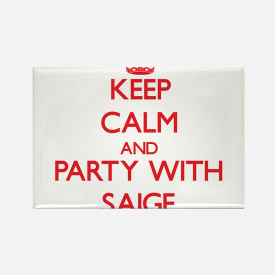 Keep Calm and Party with Saige Magnets