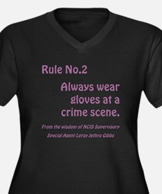 RULE NO. 2 Women's Plus Size V-Neck Dark T-Shirt