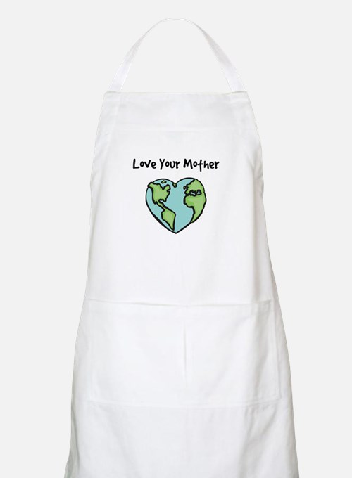 """Love Your Mother"" BBQ Apron"
