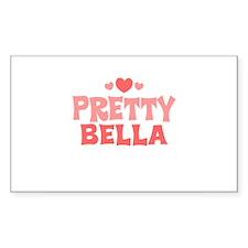 Bella Rectangle Bumper Stickers