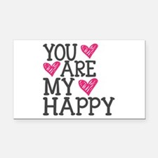 You Are My Happy Love Rectangle Car Magnet