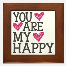 You Are My Happy Love Framed Tile