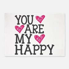 You Are My Happy Love 5'x7'Area Rug