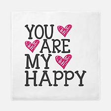 You Are My Happy Love Queen Duvet