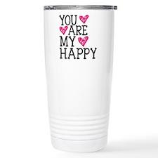 You Are My Happy Love Travel Mug