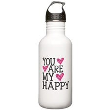 You Are My Happy Love Water Bottle