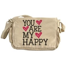 You Are My Happy Love Messenger Bag